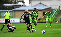 Scott Cuthbert of Stevenage jostles with Jamille Matt of Forest Green Rovers- Mandatory by-line: Nizaam Jones/JMP - 17/10/2020 - FOOTBALL - innocent New Lawn Stadium - Nailsworth, England - Forest Green Rovers v Stevenage - Sky Bet League Two