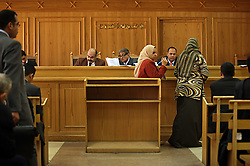 Family Court Appeals Judges Safaak Abaza, left, Ahmed Abdel Gileel, center, and Abdel Migeed Himeda, right, hear cases at the Courthouse of New Cairo Personal Status and Family Courts in Cairo, Egypt on March 5, 2008. Recently in the Muslim world, the reputation of Shariah law has undergone an extraordinary revival.