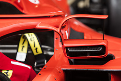 May 10, 2018 - Barcelona, Catalonia, Spain - Scuderia Ferrari new mirror incorporated into the halo during the Spanish Formula One Grand Prix at Circuit de Catalunya on May 10, 2018 in Montmelo, Spain. (Credit Image: © Xavier Bonilla/NurPhoto via ZUMA Press)