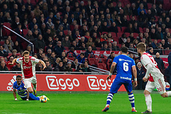 13-03-2019 NED: Ajax - PEC Zwolle, Amsterdam<br /> Ajax has booked an oppressive victory over PEC Zwolle without entertaining the public 2-1 / Kenneth Paal #5 of PEC Zwolle, Joel Veltman #3 of Ajax