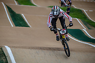 #76 (BABRIS Helvijs) LAT at Round 2 of the 2020 UCI BMX Supercross World Cup in Shepparton, Australia.