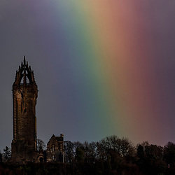 Rainbow at the Wallace Monument, Stirling.