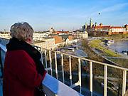 Zamek Królewski na Wawelu w Krakowie - zakole Wisły, Polska <br /> Wawel Royal Castle in Cracow - Vistula river swirl, Poland