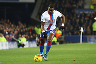 Yannick Bolasie of Crystal Palace in action. Barclays Premier league match, Everton v Crystal Palace at Goodison Park in Liverpool, Merseyside on Monday 7th December 2015.<br /> pic by Chris Stading, Andrew Orchard sports photography.