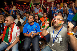 © under license to London News Pictures. 2.4.11.The Indian community in The Regency Club, Kingsbury NW London watch the nail-biting finale to the Cricket World Cup Final which India eventually won by six wickets..