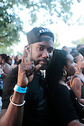 """August 27, 2016- Brooklyn, New York-United States: DJ Dundhee attends the 2016 AfroPunk Brooklyn Concert Series held at Commodore Barry Park on August 27, 2016 in Brooklyn, New York City. Described by some as """"the most multicultural festival in the US,"""" which includes an eclectic line-up and an audience as diverse as the acts they come to see. (Photo by Terrence Jennings/terrencejennings.com)"""