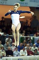 Turn. VM 2002. Debrechen, Ungarn. 24.11.2002.<br /> Ashley Postell, USA.<br /> Foto: Christian Ballat, Digitalsport
