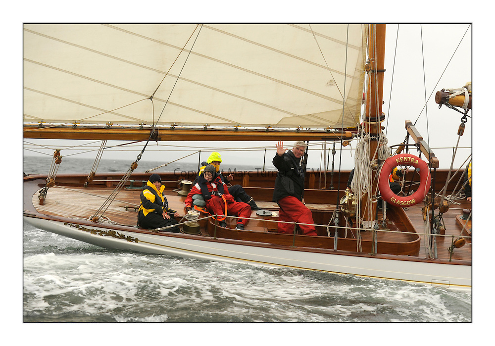 Day two of the Fife Regatta,Passage race to Rothesay.<br /> Latifa, 8, Mario Pirri, ITA, Bermudan Yawl, Wm Fife 3rd, 1936<br /> <br /> * The William Fife designed Yachts return to the birthplace of these historic yachts, the Scotland's pre-eminent yacht designer and builder for the 4th Fife Regatta on the Clyde 28th June–5th July 2013<br /> <br /> More information is available on the website: www.fiferegatta.com