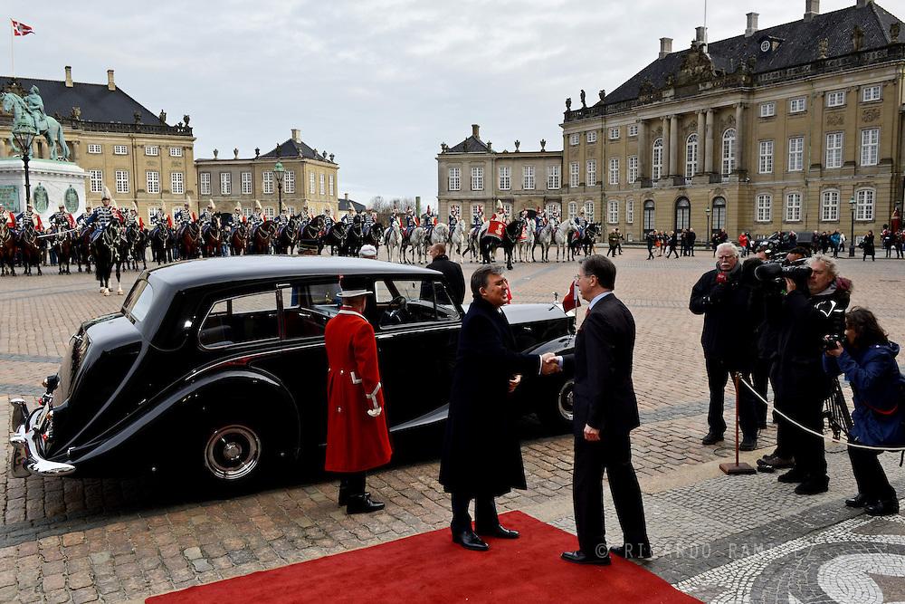17.03.2014. Copenhagen, Denmark.President of Turkey H.E. President Gül arrival at the Amalienborg Palace.Photo:© Ricardo Ramirez