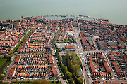 Nederland, Noord-Holland, Waterland, 28-04-2010; Centrum van Volendam, gezien naar de Haven.luchtfoto (toeslag), aerial photo (additional fee required).foto/photo Siebe Swart