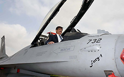 September 5, 2017 - Pakistan - KARACHI, PAKISTAN, SEP 06: Chief Minister Murad Ali Shah sitting in F-16 during .celebrations of 52nd Pakistan Defence Day at PAF Masroor Base in Karachi on Wednesday, .September 06, 2017. (Credit Image: © PPI via ZUMA Wire)