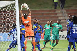 23102018 (Durban) Cape Town City goalkeeper Sage Stephens hold a ball from Amazulu Player Karuru Ovidy during the first round of the Telkom Knockout concludes on Tuesday night when Amazulu walloped the MTN8 Cup winners Cape Town City  2-0 at the King Zwelithini stadium. Making their way to the quarter finals were they would be playing against Orlando Pirates.<br /> Picture: Motshwari Mofokeng/African News Agency (ANA)