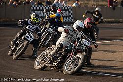 "Mack (Masahiro Okinawa) racing his 1942 Harley-Davidson 45"" WLA racer at the Okie Dokie Vintage Races put on by Go Takamine's Brat Style at West Point Off-Road Village, Kawagoe, Saitama, Japan. Tuesday, December 4, 2018. Photography ©2018 Michael Lichter."