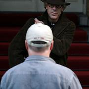 NLD/Amsterdam/20070913 - The Police in Amsterdam, Stewart Copeland verlaat zijn hotel