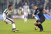 Claudio Marchisio Juventus, Lukas Podolski Inter,<br /> Torino 06-01-2015, Juventus Stadium, Football Calcio 2014/2015 Serie A, Juventus - Inter, Foto Filippo Alfero/Insidefoto