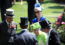 The Duke of Edinburgh (left) and Zara Tindall during day one of Royal Ascot at Ascot Racecourse.