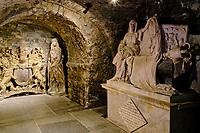 Irlande, Dublin, St Michaels Hill, interieur de la cathédrale Christ Church ou cathédrale de la Sainte-Trinité, cathédrale anglicane irlandaise, la crypte // Republic of Ireland; Dublin, interior of Christ Church Cathedral, the crypt