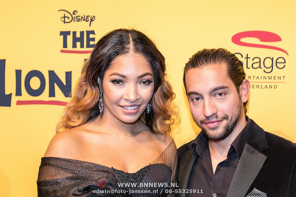 NLD/Scheveningen/20161030 - Premiere musical The Lion King, April Darby en partner Alessandro Pierotti