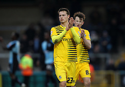 Billy Bodin of Bristol Rovers applauds the fans at full time - Mandatory byline: Robbie Stephenson/JMP - 27/02/2016 - FOOTBALL - Adams Park - Wycombe, England - Wycombe Wanderers v Bristol Rovers - Sky Bet League Two