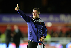 Lee Holmes of Exeter City puts his thumbs up to the crowd. - Mandatory byline: Alex James/JMP - 08/01/2016 - FOOTBALL - St James Park - Exeter, England - Exeter City v Liverpool - FA Cup Third Round