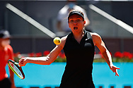 Simona Halep of Romania in action during her Women's Singles match, round of 16, against Elise Mertens of Belgium on the Mutua Madrid Open 2021, Masters 1000 tennis tournament on May 4, 2021 at La Caja Magica in Madrid, Spain - Photo Oscar J Barroso / Spain ProSportsImages / DPPI / ProSportsImages / DPPI