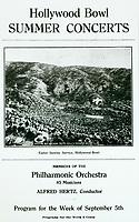 1922 Hollywood Bowl program
