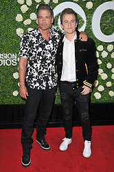 (L-R) Rob Lowe and son John Owen Lowe arrives at the 2017 CBS Television Studios Summer Soiree TCA Party held at the CBS Studio Center – New York Street in Studio City, CA on Tuesday, August 1, 2017. (Photo By Sthanlee B. Mirador) *** Please Use Credit from Credit Field ***