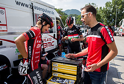 Andi Bajc (SLO) of Amplatz - BMC and Luka Zele prior to the Stage 3 of 24th Tour of Slovenia 2017 / Tour de Slovenie from Celje to Rogla (167,7 km) cycling race on June 16, 2017 in Slovenia. Photo by Vid Ponikvar / Sportida