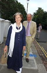 CHARLES & PATTI PALMER-TOMKINSON at Sir David & Lady Carina Frost's annual summer party held in Carlyle Square, Chelsea, London on 5th July 2006.<br />