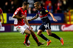 James Coppinger of Doncaster Rovers takes on Ben Purrington of Charlton Athletic - Mandatory by-line: Robbie Stephenson/JMP - 17/05/2019 - FOOTBALL - The Valley - Charlton, London, England - Charlton Athletic v Doncaster Rovers - Sky Bet League One Play-off Semi-Final 2nd Leg