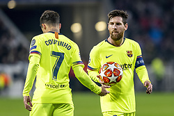 February 19, 2019 - Lyon, França - LYON, LY - 19.02.2019: LYON X BARCELONA - Lionel Messi and Philippe Coutinho of Barcelona during the match between Lyon and Barcelona held at Parc Olympique Lyonnais in Lyon. The match is valid for the octaves of the Champions League 2018/2019. (Credit Image: © Richard Callis/Fotoarena via ZUMA Press)