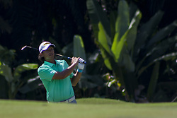 February 3, 2018 - Shah Alam, Kuala Lumpur, Malaysia - Gavin Green is seen taking a shot from hole no 9 on day 3 at the Maybank Championship 2018...The Maybank Championship 2018 golf event is being hosted on 1st to 4th February at Saujana Golf & Country Club. (Credit Image: © Faris Hadziq/SOPA via ZUMA Wire)