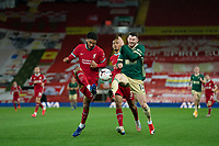 Football - 2020 / 2021 Premier League - Liverpool vs Sheffield United - Anfield<br /> <br /> Sheffield United's Phil Jagielka battles with Liverpool's Joe Gomez<br /> <br /> COLORSPORT/TERRY DONNELLY