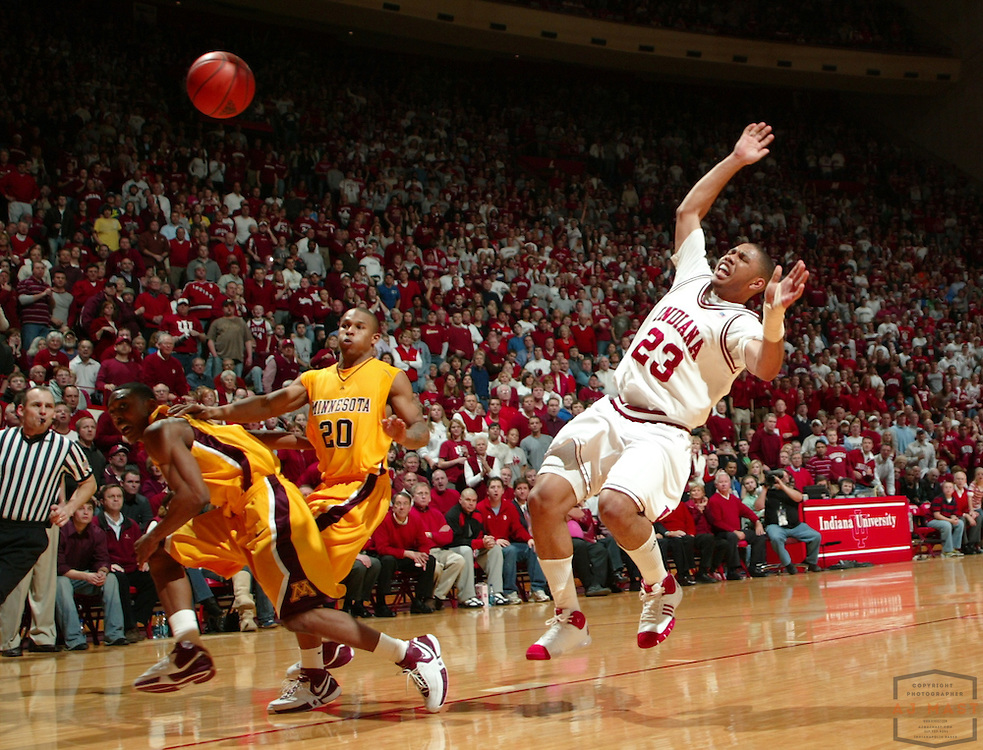 05 March 2008: Indiana guard Eric Gordon (23) as the Indiana Hoosiers played the Minnesota Golden Gophers in a college basketball game in East Lansing, Mich.