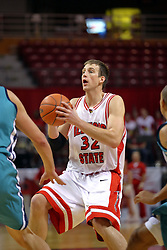 18 November 2007: Levi Dyer. Illinois State Redbirds defeated the Seahawks of the University of North Carolina - Wilmington 89-73 on Doug Collins Court in Redbird Arena on the campus of Illinois State University in Normal Illinois.