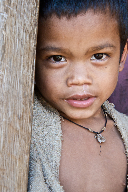 Portrait of a young boy on the Bolaven Plateau of southern Laos.
