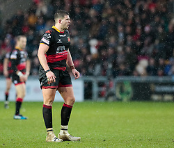 Dragons' Elliot Dee<br /> <br /> Photographer Simon King/Replay Images<br /> <br /> Guinness Pro14 Round 11 - Dragons v Cardiff Blues - Tuesday 26th December 2017 - Rodney Parade - Newport<br /> <br /> World Copyright © 2017 Replay Images. All rights reserved. info@replayimages.co.uk - www.replayimages.co.uk