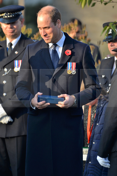 © Licensed to London News Pictures. 03/11/2017. London, UK. The DUKE OF CAMBRIDGE attends the Metropolitan Police Service Passing Out Parade, to mark the graduation of 182 new recruits from the Met's Police Academy in Hendon. Photo credit: Ray Tang/LNP