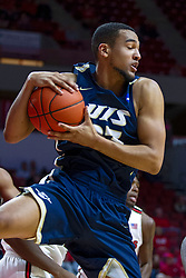 NORMAL, IL - November 29:  Collin Stallworth during a college basketball game between the ISU Redbirds and the Prairie Stars of University of Illinois Springfield (UIS) on November 29 2019 at Redbird Arena in Normal, IL. (Photo by Alan Look)