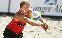 Volleyball Sandvolleyball Beachvolleyball<br />Swatch FIVB World Tour Conoco Phillips Grand Slam<br />Stavanger 260608<br />Foto: Sigbjørn Andreas Hofsmo, Digitalsport<br /><br /> Bjørn Maaseide
