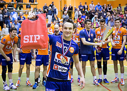 Miha Plot of ACH after the volleyball match between ACH Volley   and Salonit Anhovo in Final of Slovenian Cup 2014/15, on January 17, 2015 in Sempeter, Slovenia. Photo by Vid Ponikvar / Sportida