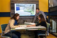 Environmental portraits in office setting for Rist-Frost-Shumway.  ©2018 Karen Bobotas Photographer