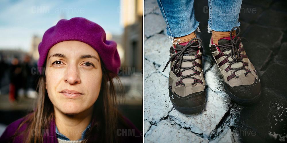 Rita. 34 years old. Braga, Portugal. <br /> Rome 09 December 2015. Christian Mantuano / OneShot