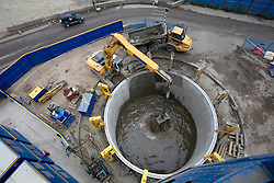 Construction work on a 12.5 metre wide shaft beneath the site of the pumping station. Picture taken on 27 Aug 08 by David Poultney.