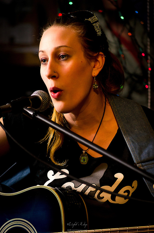 Mary Deeney performing at the Casey Rivel Benefit at the Bus Stop Music Cafe in Pitman, NJ.