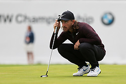 September 8, 2018 - Newtown Square, Pennsylvania, United States - Tommy Fleetwood lines up a putt on the 16th green during the third round of the 2018 BMW Championship. (Credit Image: © Debby Wong/ZUMA Wire)