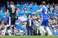 Claudio Ranieri, the Leicester City manager looks on from the touchline. Barclays Premier league match, Chelsea v Leicester city at Stamford Bridge in London on Sunday 15th May 2016.<br /> pic by John Patrick Fletcher, Andrew Orchard sports photography.