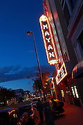 """SHOT 10/7/09 6:55:08 PM - The Mayan Landmark Theatre on Broadway in Denver, Co. The theatre was built in 1930 and features Denver's finest in independent film and foreign language cinema, the Mayan Theatre is located in the heart of Central Denver amongst a bevy of art galleries, restaurants and vintage clothing stores in the Baker District. The historic Mayan, built in 1930, narrowly missed the wrecking ball in the mid-1980s, when, at the eleventh hour, it was saved by the local group """"Friends of the Mayan."""" In 1986, The Mayan was restored to its former glory. Renovated meticulously at a cost of nearly $2 million, it is one of the country's three remaining theatres designed in the Art Deco Mayan Revival style. It has been converted into a three-screen palace, with one large, magnificent auditorium and two cozy theatres upstairs, featuring stadium seating. There is also an upstairs cafe and seating area. (Photo by Marc Piscotty / © 2009)"""