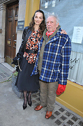 DAVID BAILEY and CATHERINE BAILEY at a private view of Human Relations featuring the photographs of Fenton Bailey and Mairi-Luise Tabbakh, curated by Sascha Bailey held at Imitate Modern, 27a Devonshire Street, London, W1 on 1st May 2013.
