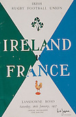 Rugby 1957-26/01 Five Nations Ireland Vs France